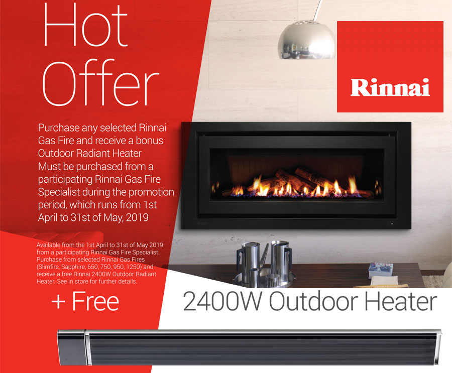 Rinnai Hot Offer Free 2400W outdoor heater