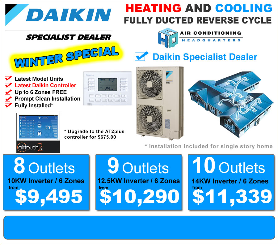 Special Offer Daikin Air Conditioning Ducted System