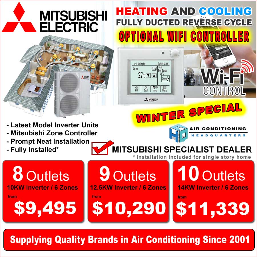 Special Offer Mitsubishi Ducted System Air Conditioning